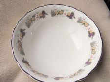 "ROYAL DOULTON LARGE OPEN FRUIT BOWL RAVENNA TC 1175 10"" DIA 3.25"" HIGH 2ND QUAL"